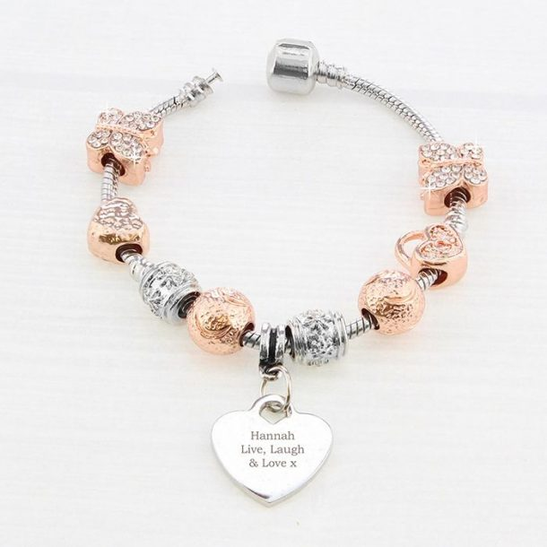 Personalised Any Message Charm Bracelet