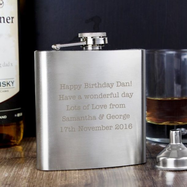Personalised Any Message Hip Flask