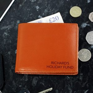 Personalised Any Message Leather Wallet