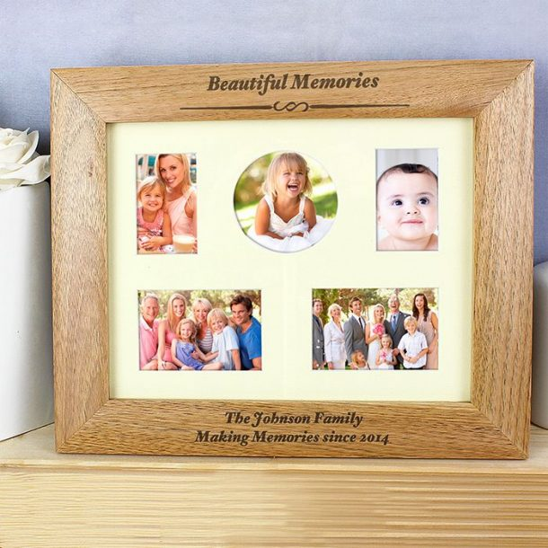 Personalised Any Message Wood Photo Frame