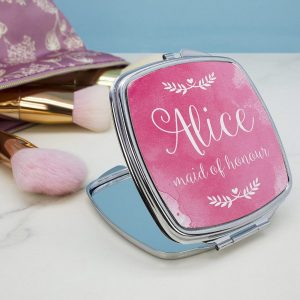 Personalised Any Role Wedding Compact Mirror