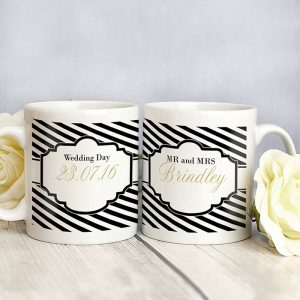 Personalised Art Deco Mug Set