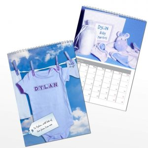 Personalised Baby Boy Calendar