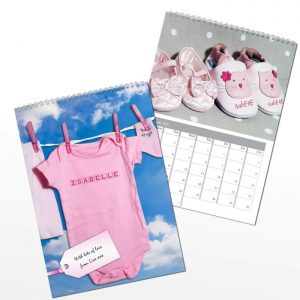 Personalised Baby Girl Calendar
