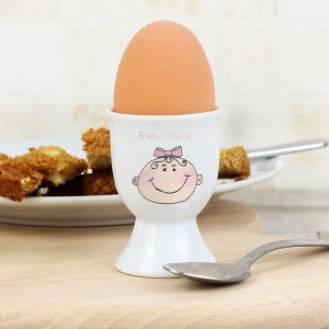 Personalised Baby Girl Egg Cup