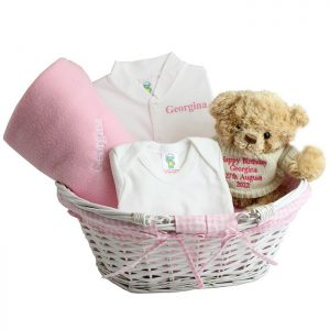 Personalised Baby Girl Set & Basket