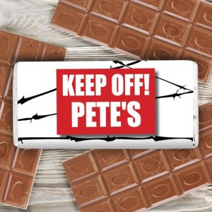 Personalised Barbed Wire Chocolate Bar