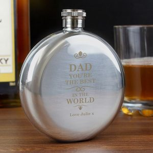 Personalised Best In The World Hip Flask