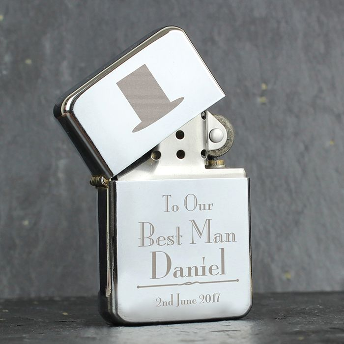 Personalised Best Man Lighter Love My Gifts