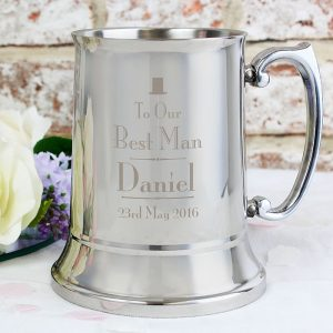 Personalised Best Man Stainless Steel Tankard