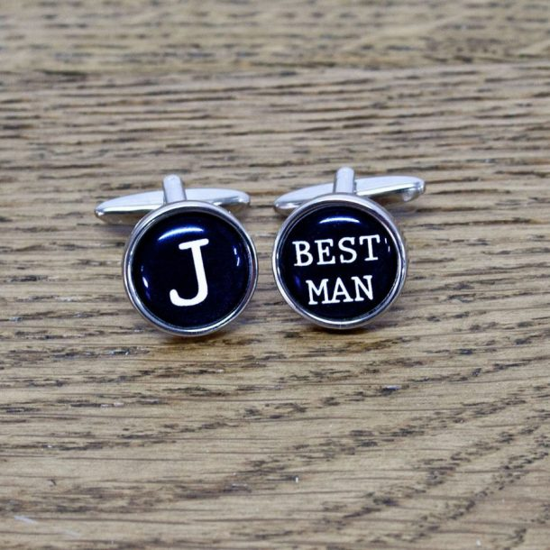 Personalised Best Man Type Writer Style Cufflinks