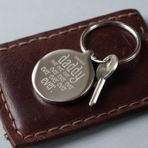 Personalised Bestest Daddy Keyring