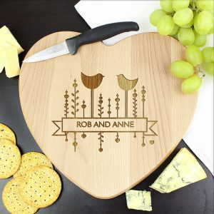 Personalised Bird Heart Chopping Board