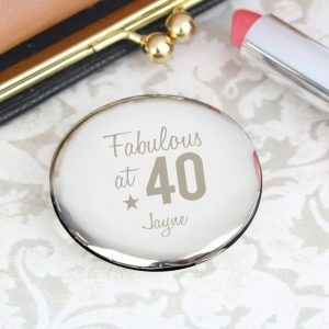 Personalised Birthday Age Compact Mirror