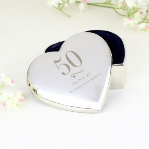 Personalised Birthday Age Heart Trinket Box