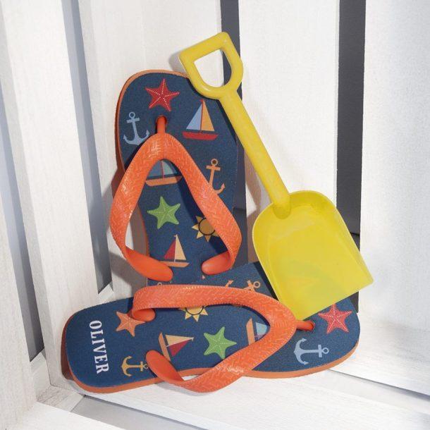 Personalised Boy's Beach Flip Flops