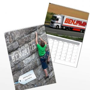 Personalised Boys Calendar