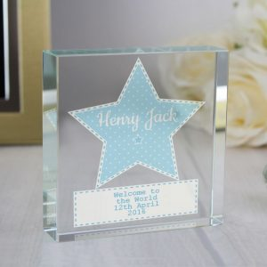 Personalised Boys Large Crystal Star Token