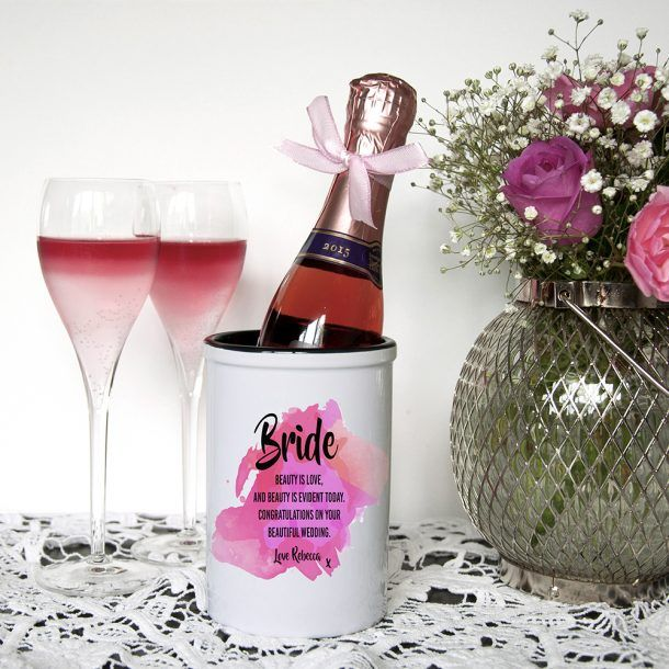 Personalised Bride Champagne Bucket