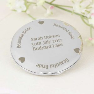 Personalised Bride Compact Mirror