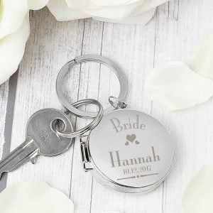 Personalised Bride Photo Keyring