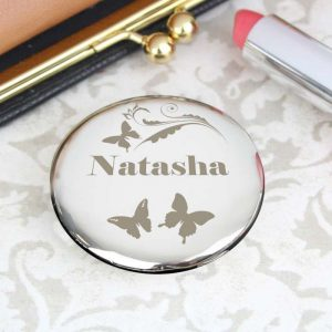 Personalised Butterfly Compact Mirror