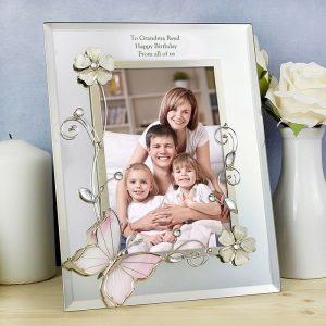 Personalised Butterfly Portrait Photo Frame