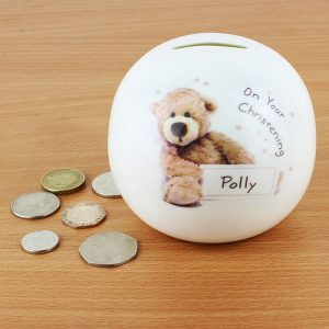 Personalised China Teddy Money Box