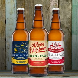 Personalised Christmas Beer Set
