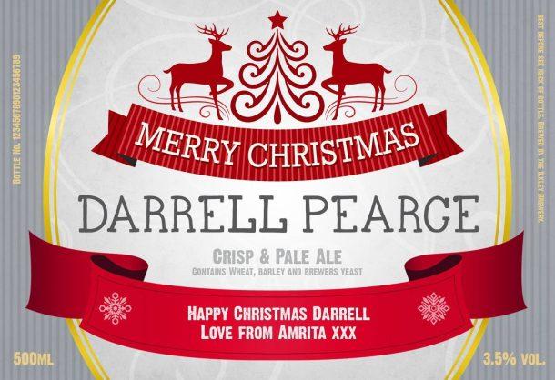 Personalised Christmas Beer Set
