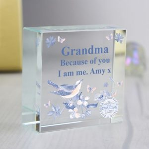 Personalised Country Diary Blossom Crystal Token