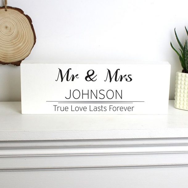 Personalised Couples Mantel Block