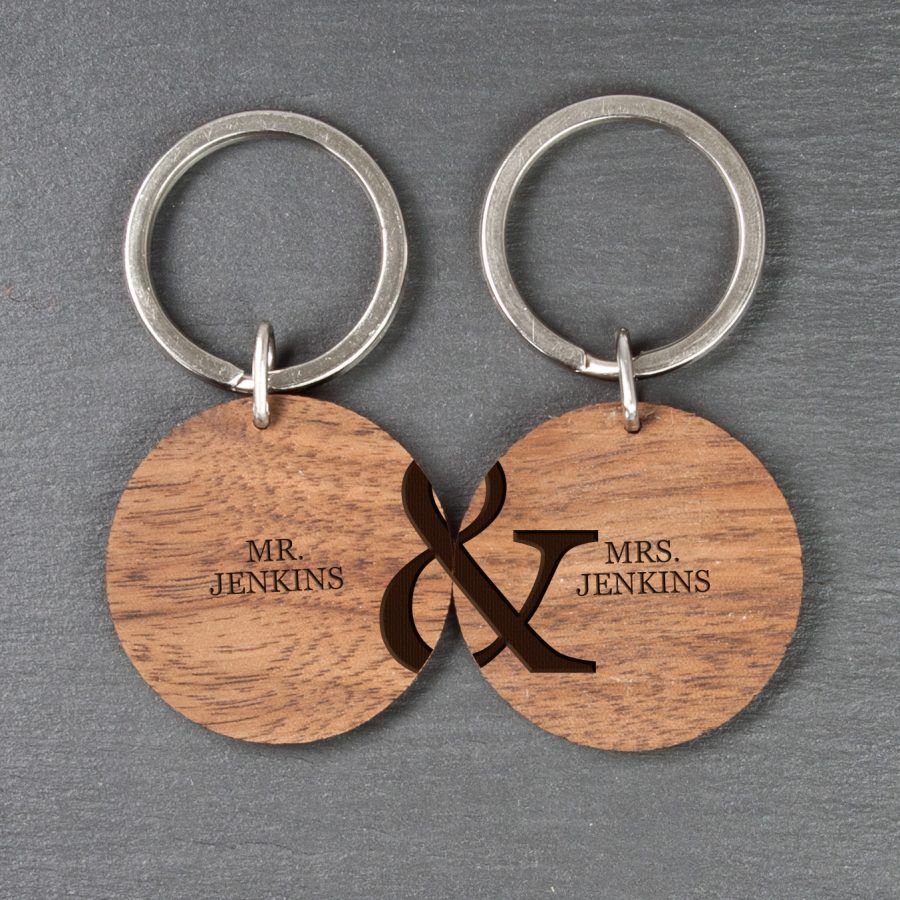Personalised Couples Wooden Keyrings  06980c38419a