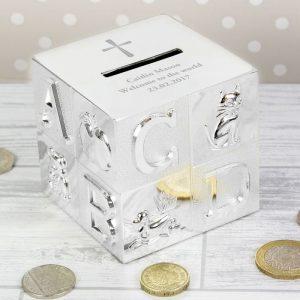 Personalised Cross ABC Money Box