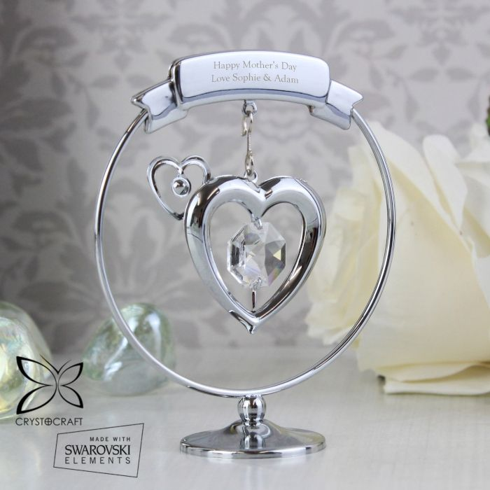 Baptism Heart Ornament: Personalised Crystocraft Heart Ornament