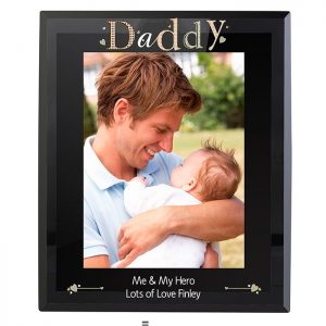 Personalised Daddy Glass Photo Frame