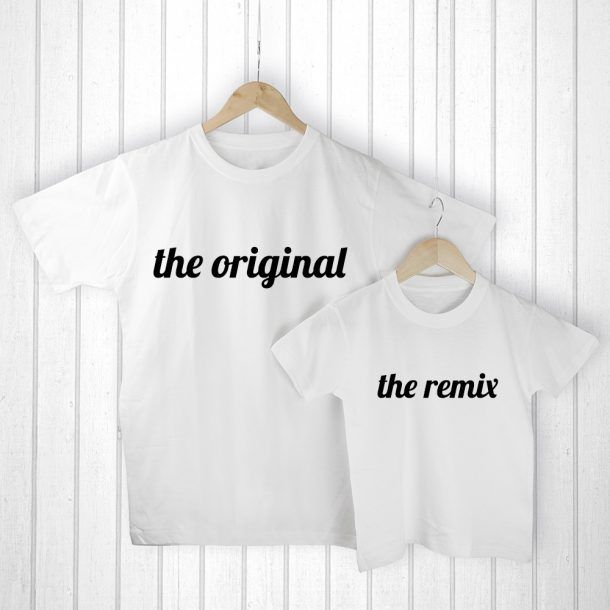 Personalised Daddy & Me Original White T-Shirts