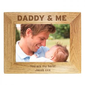 Personalised Daddy & Me Photo Frame