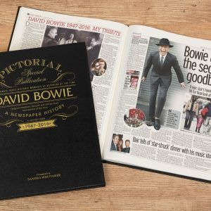 Personalised David Bowie Newspaper Book