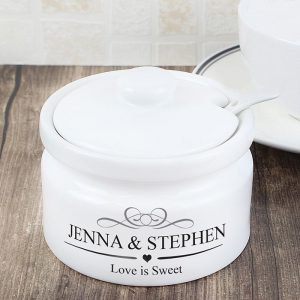 Personalised Decorative Jam or Sugar Pot