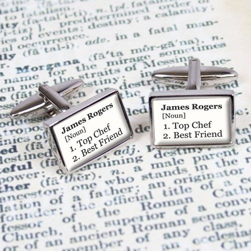 Personalised Definition Cufflinks