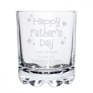 Personalised Fathers Day Whisky Tumbler