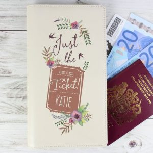 Personalised First Class Travel Document Holder