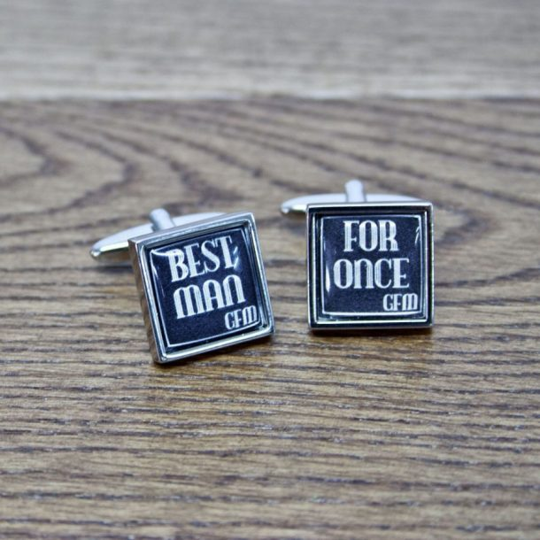 Personalised For Once Best Man Cufflinks