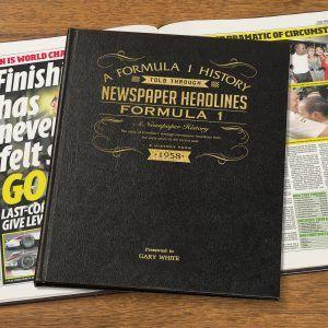 Personalised Formula One Newspaper Book