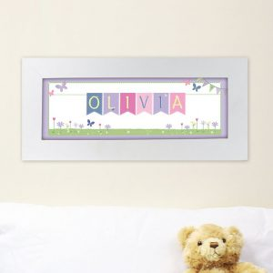 Personalised Garden Bunting Name Frame