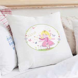 Personalised Garden Fairy Cushion Cover