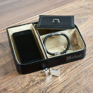Personalised Gentlemans Accessory Tidy