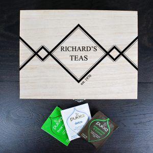 Personalised Gentlemen's Wooden Tea Box