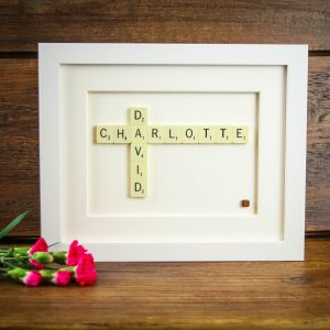 Personalised Genuine Scrabble Tile Frame